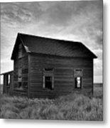 Old House In A Barren Field Metal Print