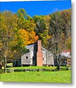 Old House In Cades Cove Tn Metal Print
