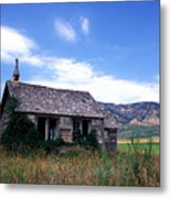 Old House In Idaho Metal Print by Kathy Yates