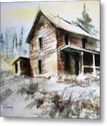 Old House Marysville Ghosttown Montana Metal Print