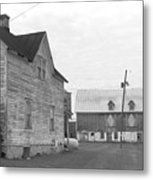 Old House With Barn On Clarks Lake Road Metal Print