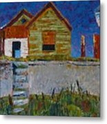 Old House With Lamppost Metal Print