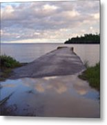 Old Hovland Dock After The Storm Metal Print