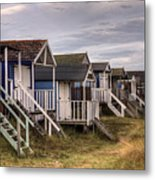 Beach Huts At Old Hunstanton Metal Print