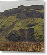 Old Icelandic Island Panorama Metal Print