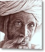 Old Indian Man Metal Print