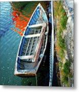 Old Irish Boat Metal Print
