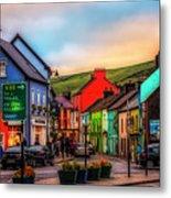 Old Irish Town The Dingle Peninsula At Sunset Metal Print
