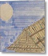 Old Japan At Nightfall Metal Print