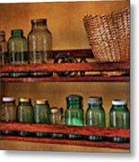 Old Jars Metal Print