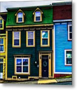 Old Jellybean Row Houses Metal Print