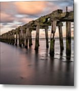 Old Jetty Near Castlerock Metal Print