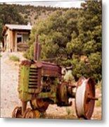 Old John Deer Tractor Metal Print