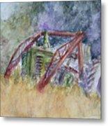 Old John Deere Tractor In The Back 40 Metal Print