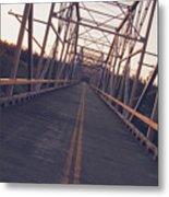 Old Knik Bridge 3 Metal Print