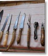 Old Knives Metal Print