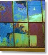 Old Lace Factory Window Metal Print