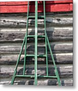 Old Ladder Metal Print