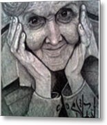 Old Lady Metal Print