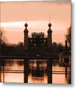 Old Lift Lock Metal Print