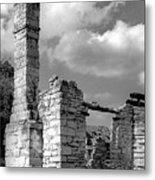 Old Limestone House Ruins Metal Print