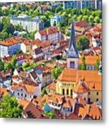 Old Ljubljana Cityscape Aerial View Metal Print