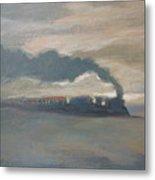 Old Locomotive Steam Train Metal Print
