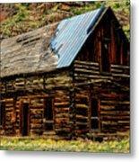 Old Log Cabin-barn Metal Print