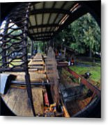 Old Logging Saw Metal Print