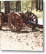 Old Logging Wagon Metal Print