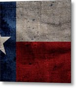 Old Lone Star Flag Metal Print