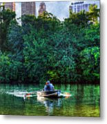 Old Love And Central Park Lake Metal Print