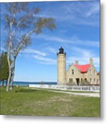 Old Mackinaw Point Light Metal Print