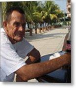 Old Man Drinking Coca Cola Metal Print