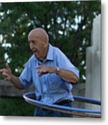 Old Man Keeps The Body Moving Metal Print