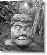 Old Man Of Copan Sculpture, Also Known As The Pauahtun Head From Metal Print