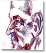 Old Man Profile  Metal Print