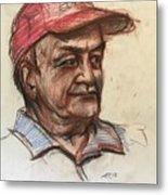 Old Man With Cap Metal Print