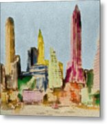 Old Manhattan Metal Print