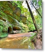 Old Man's Gorge Trail And Caves Hocking Hills Ohio Metal Print