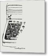 Old Manual Typewriter Metal Print