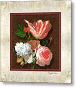 Old Masters Reimagined - Parrot Tulip Metal Print