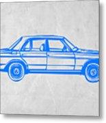 Old Mercedes Benz Metal Print