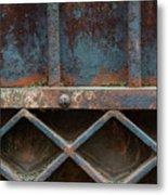 Old Metal Gate Detail Metal Print