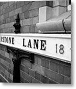 old metal victorian sign for warstone lane jewellery quarter Birmingham UK Metal Print
