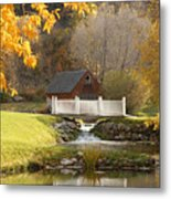 Old Mill In Autumn Metal Print