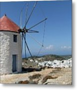 Old Mill In Greece Metal Print