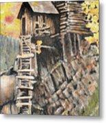 Old Mill In The Rockies Metal Print