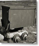 Old Mining Cart Metal Print