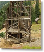 Old Mining Equipment Metal Print